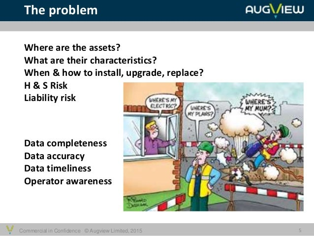 Commercial in Confidence © Augview Limited, 2015 The problem 5 Where are the assets? What are their characteristics? When ...
