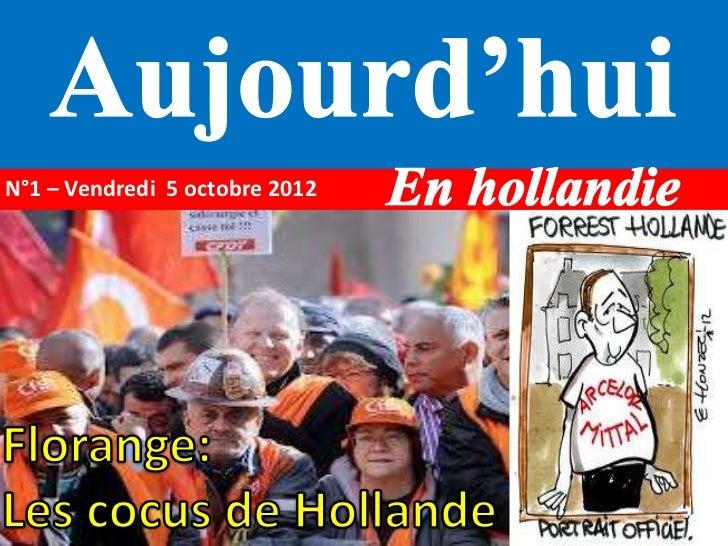 N°1 – Vendredi 5 octobre 2012