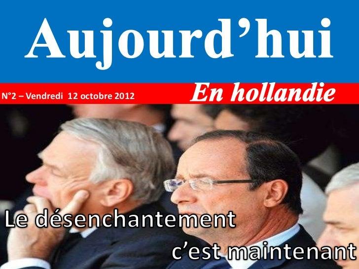 N°2 – Vendredi 12 octobre 2012