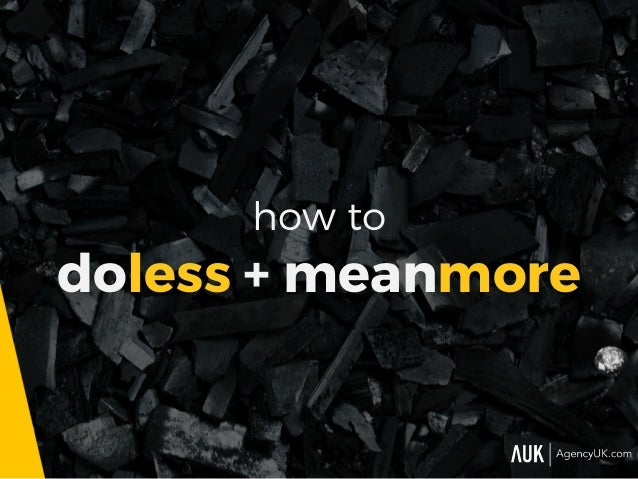 how to doless + meanmore