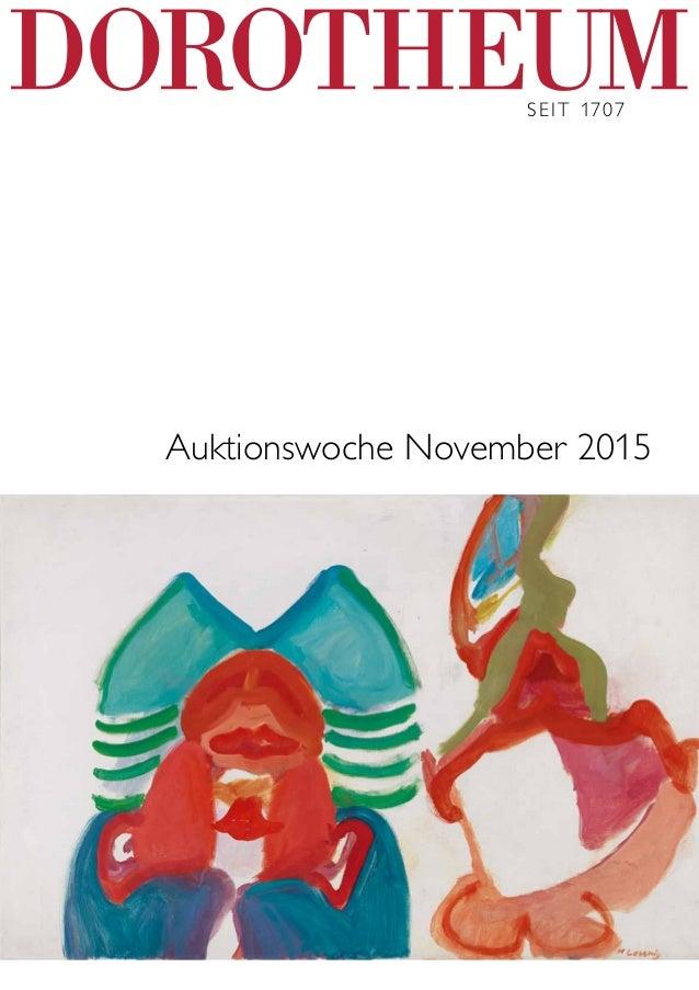 Seit 1707 Auktionswoche November 2015