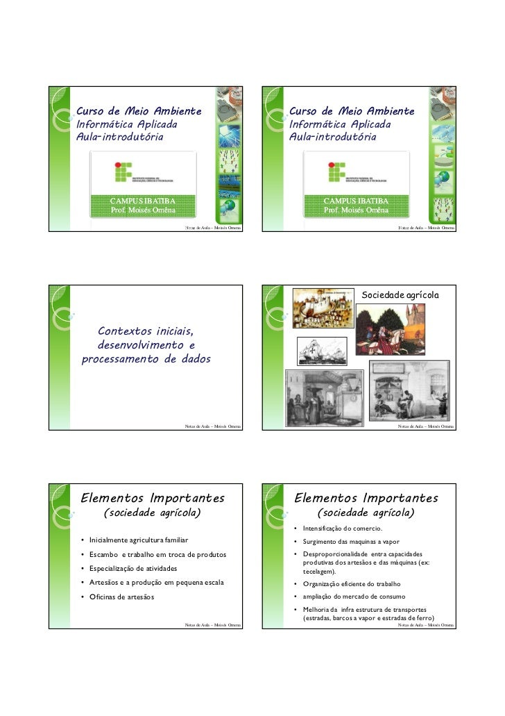 13/03/2011Curso de Meio Ambiente                                          Curso de Meio AmbienteInformática Aplicada      ...
