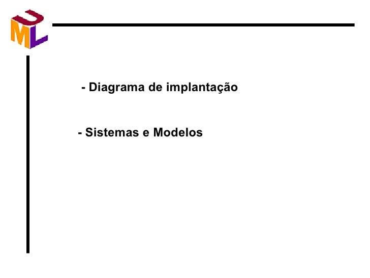 - Diagrama de implantação - Sistemas e Modelos