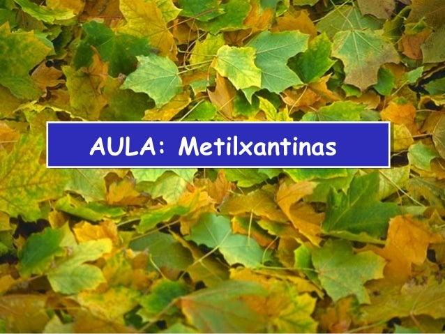 AULA: MetilxantinasAULA: Metilxantinas