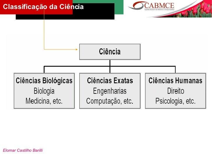 Elomar Castilho Barilli Classificação da Ciência