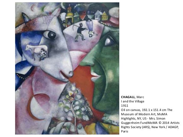 CHAGALL, Marc  I and the Village  1911  Oil on canvas, 192.1 x 151.4 cm The  Museum of Modern Art, MoMA  Highlights, NY, U...