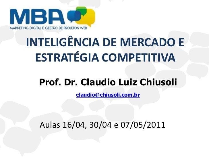 Inteligencia de Mercado e Estratégia Competitiva