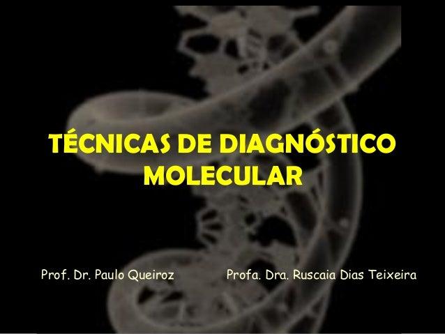 TÉCNICAS DE DIAGNÓSTICO MOLECULAR Profa. Dra. Ruscaia Dias TeixeiraProf. Dr. Paulo Queiroz