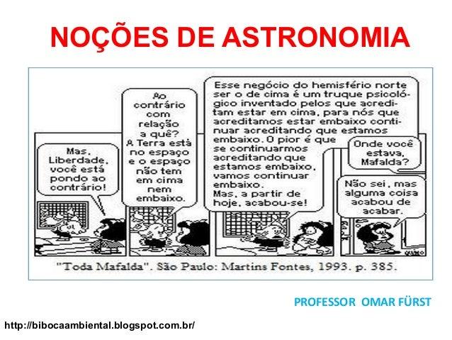 NOÇÕES DE ASTRONOMIA PROFESSOR OMAR FÜRST http://bibocaambiental.blogspot.com.br/