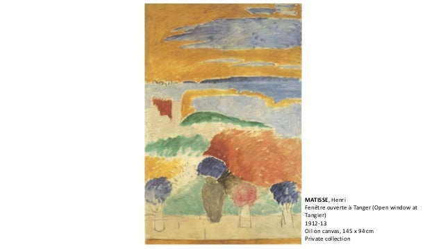 Aula matisse for Matisse fenetre ouverte