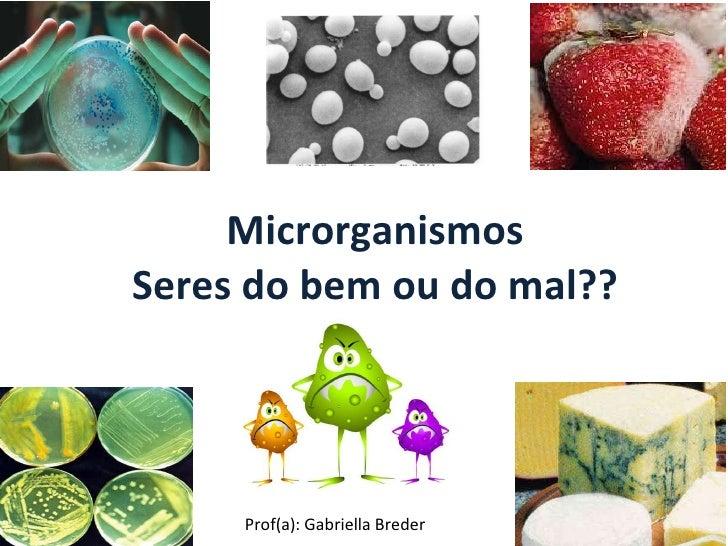 Microrganismos Seres do bem ou do mal?? Prof(a): Gabriella Breder