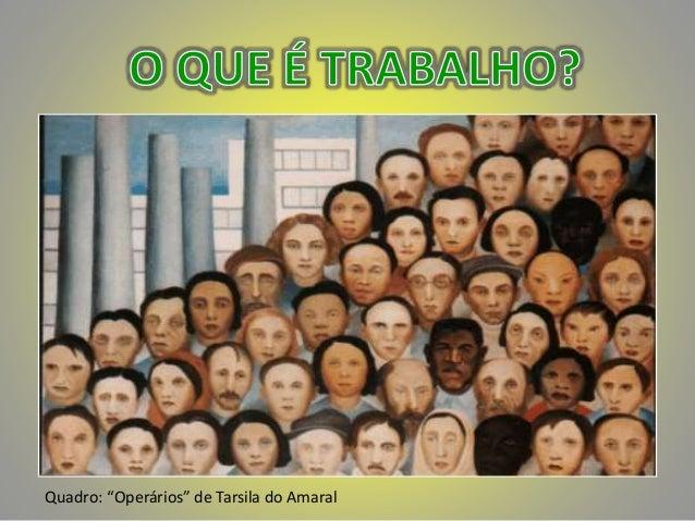 """Quadro: """"Operários"""" de Tarsila do Amaral"""