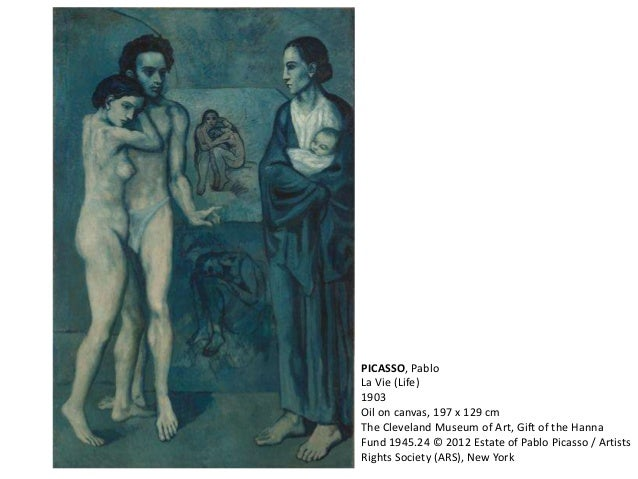 PICASSO, Pablo  La Vie (Life)  1903  Oil on canvas, 197 x 129 cm  The Cleveland Museum of Art, Gift of the Hanna  Fund 194...