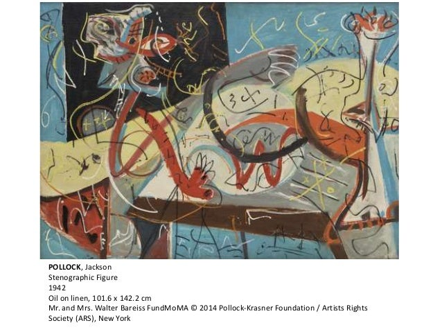 POLLOCK, Jackson  Stenographic Figure  1942  Oil on linen, 101.6 x 142.2 cm  Mr. and Mrs. Walter Bareiss FundMoMA © 2014 P...