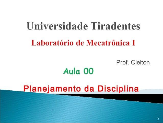 Prof. Cleiton Planejamento da Disciplina 1