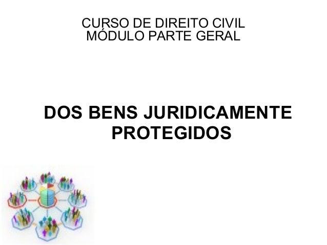 CURSO DE DIREITO CIVIL   MÓDULO PARTE GERALDOS BENS JURIDICAMENTE      PROTEGIDOS