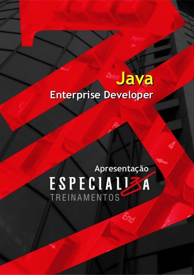 JavaEnterprise Developer        Apresentação