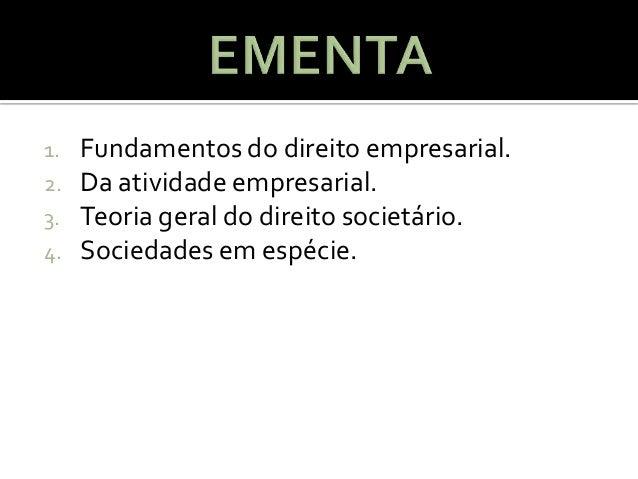 Aula 01   direito empresarial1 Slide 2