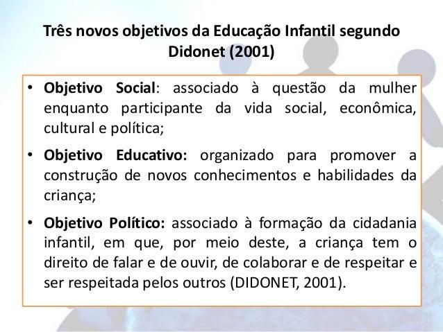 Objetivos da educação infantil segundo a ldb