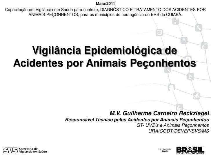 Maio/2011Capacitação em Vigilância em Saúde para controle, DIAGNÓSTICO E TRATAMENTO DOS ACIDENTES POR            ANIMAIS P...