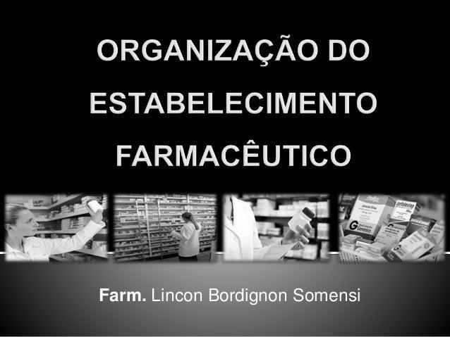 Farm. Lincon Bordignon Somensi