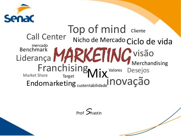 MARKETING Target Call Center Mix Nicho de Mercado Benchmark inovaçãosustentabilidade visão Valores Liderança Ciclo de vida...
