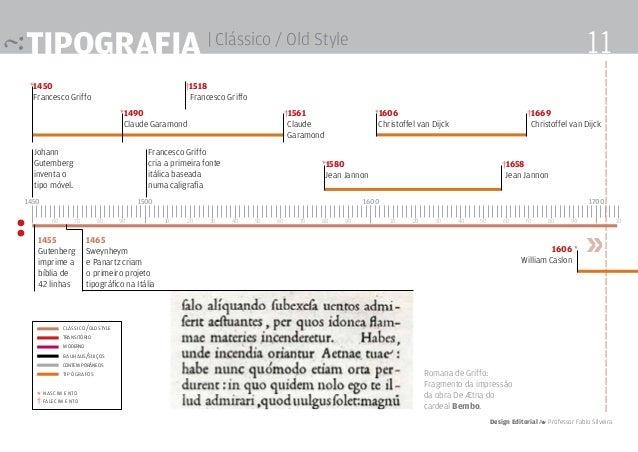 tipografia | Clássico / Old Style : Johann Gutemberg inventa o tipo móvel. »1455 Gutenberg imprime a bíblia de 42 linhas 1...