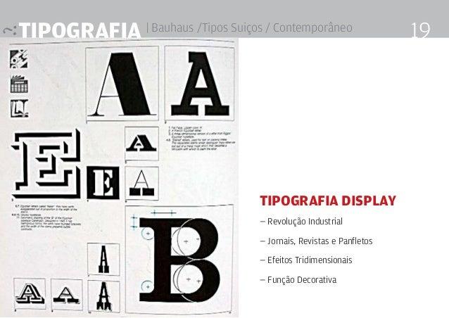Tipografia | Bauhaus /Tipos Suiços / Contemporâneo 19 Tipografia Display — Revolução Industrial — Jornais, Revistas e Panf...