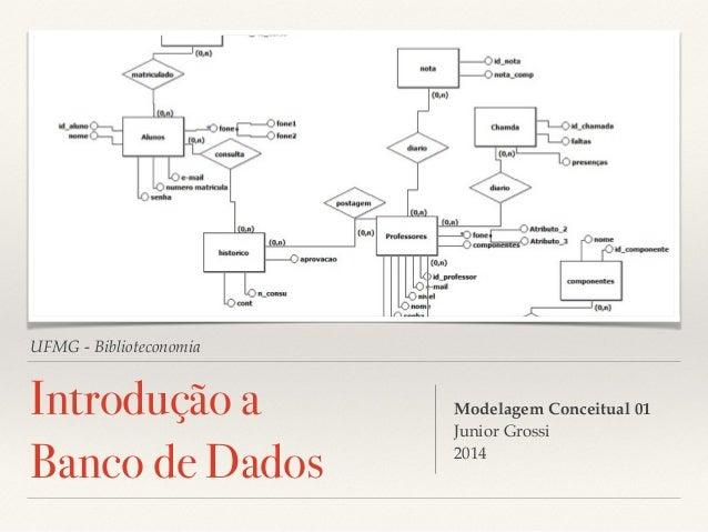 UFMG - Biblioteconomia  Introdução a  Banco de Dados  Modelagem Conceitual 01!  Junior Grossi!  2014