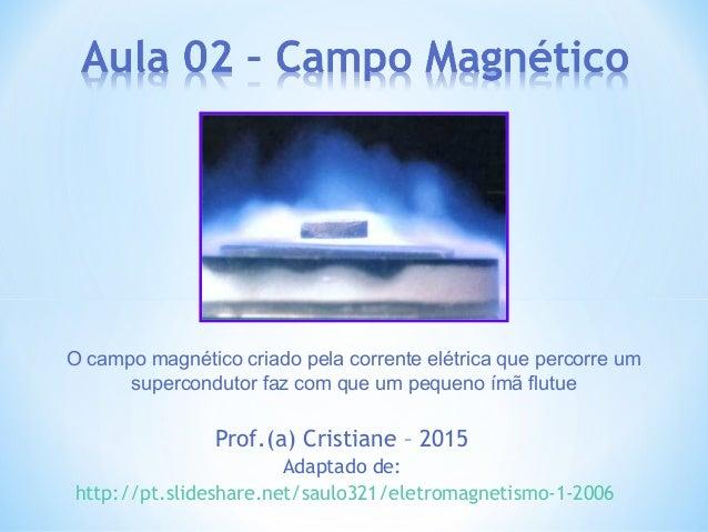 Prof.(a) Cristiane – 2015 Adaptado de: http://pt.slideshare.net/saulo321/eletromagnetismo-1-2006 O campo magnético criado ...