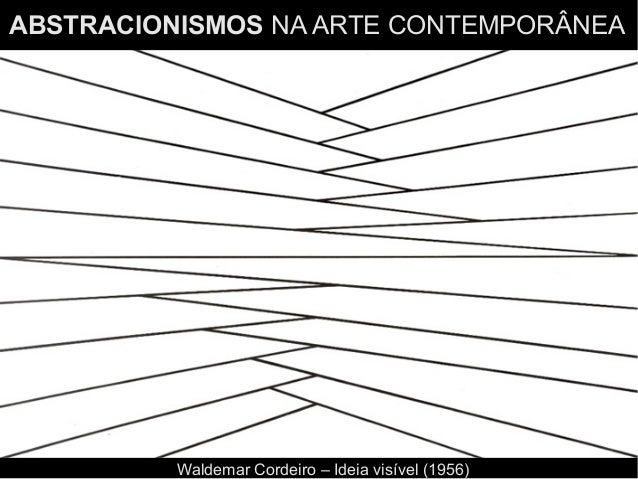 ABSTRACIONISMOS NA ARTE CONTEMPORÂNEA Waldemar Cordeiro – Ideia visível (1956)