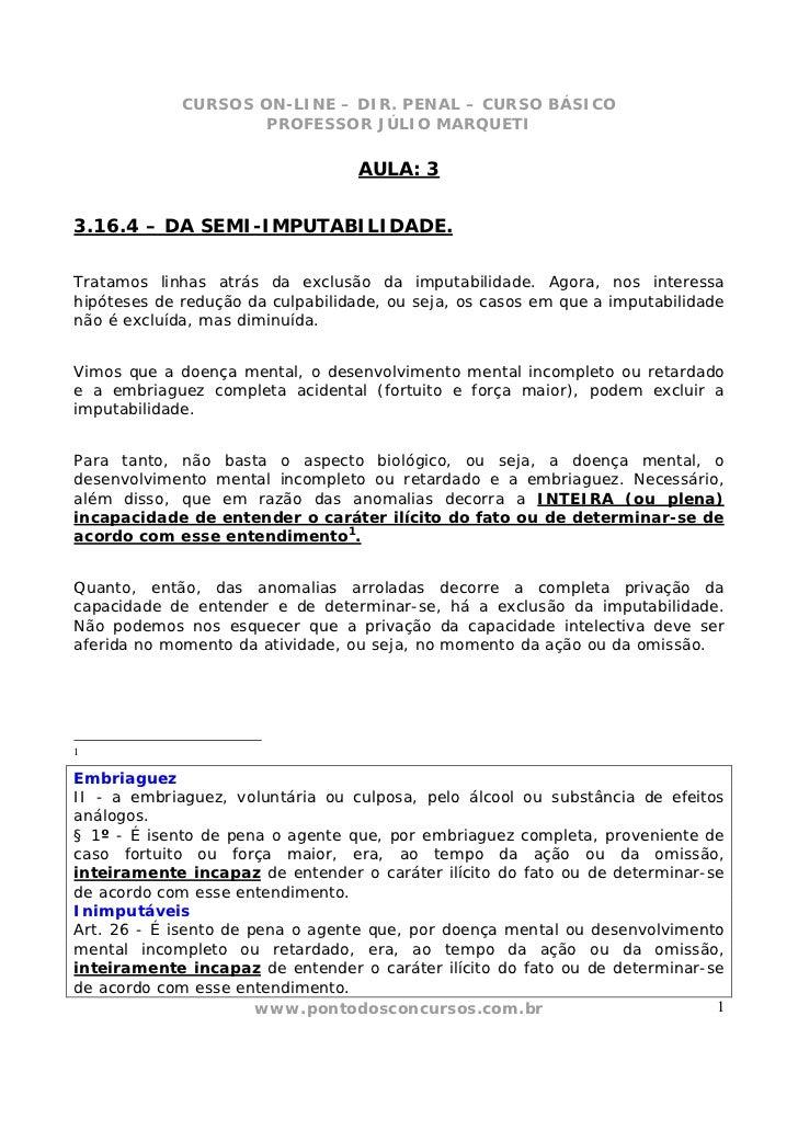 CURSOS ON-LINE – DIR. PENAL – CURSO BÁSICO                     PROFESSOR JÚLIO MARQUETI                                  A...