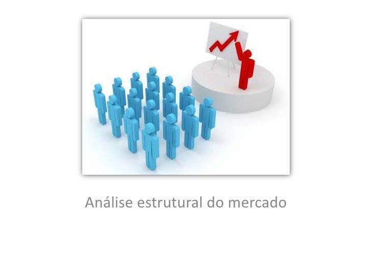 Análise estrutural do mercado<br />