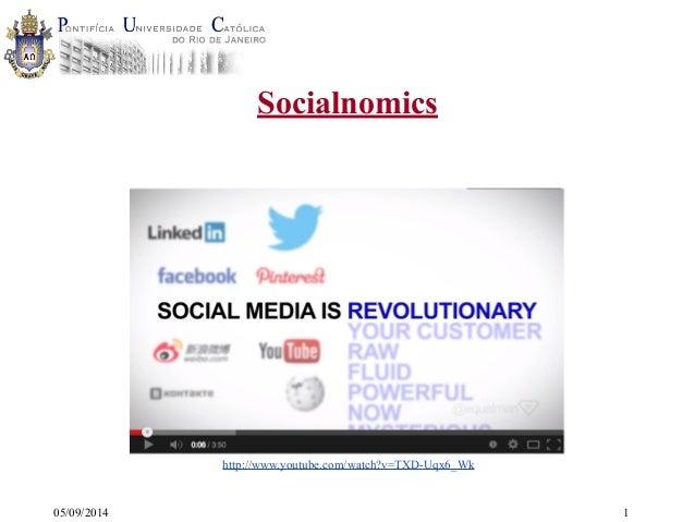 05/09/2014  Socialnomics  1  http://www.youtube.com/watch?v=TXD-Uqx6_Wk