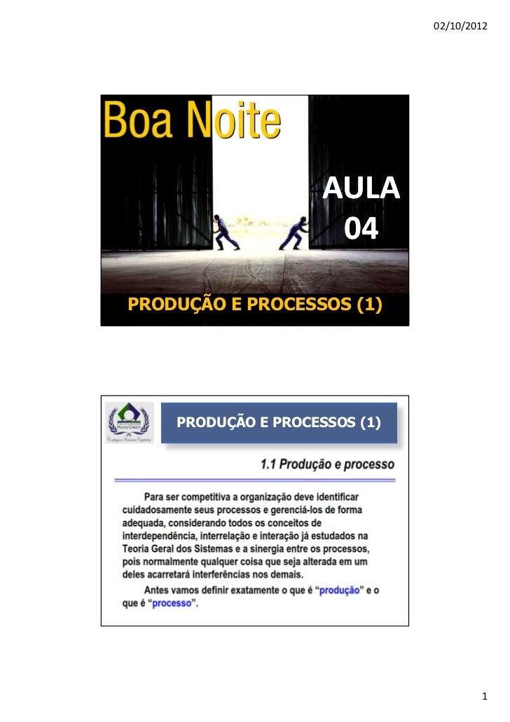 02/10/2012                     AULA                      04PRODUÇÃO E PROCESSOS (1)    PRODUÇÃO E PROCESSOS (1)           ...