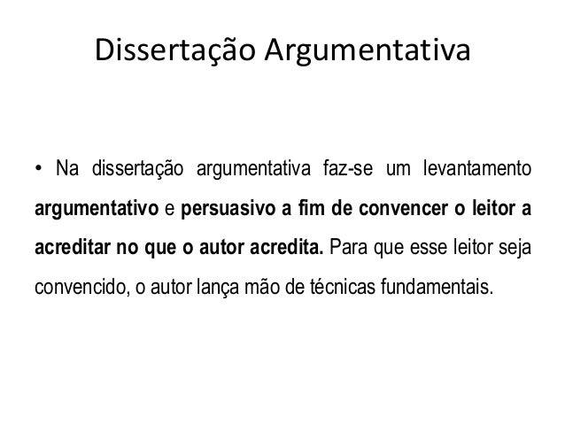Tecnicas de dissertação argumentativa