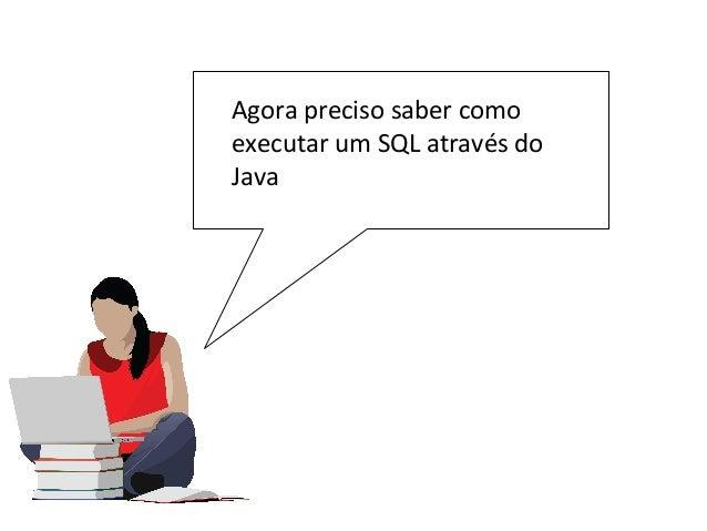 Agora preciso saber como executar um SQL através do Java