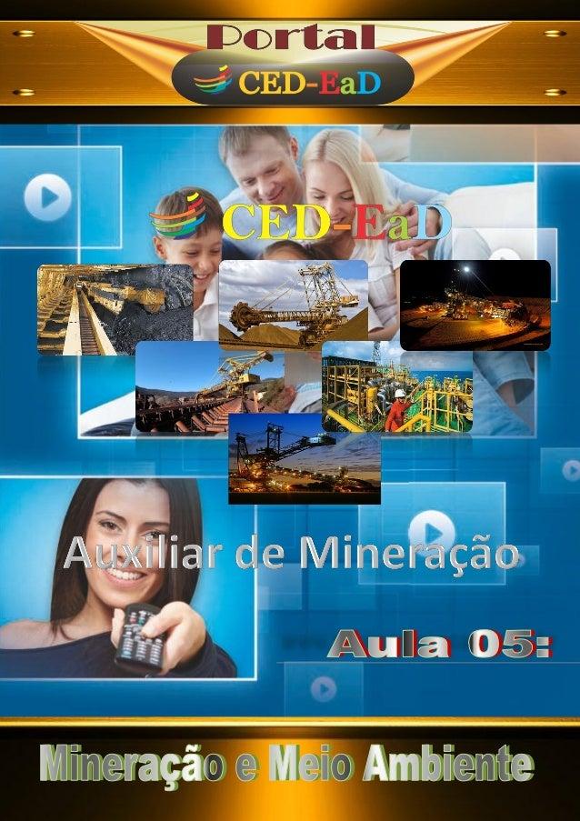 A u x i l i a r t é c n i c o Efeitos da mineração no meio ambiente Os minérios, tanto metálicos como não-metálicos, são u...