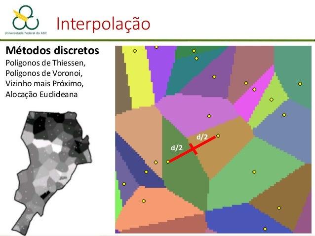Interpolação Polígonos de Voronoi e Triangulação de Deulanay são técnicas complementares na geometria