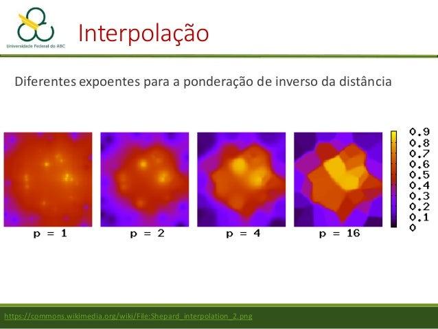 Interpolação Polinômios – Superfícies de tendência 1ª Ordem: Z = a + bX + cY 2ª Ordem: Z = a + bX + cY + dXY+ eX2+ fY2 3ª ...