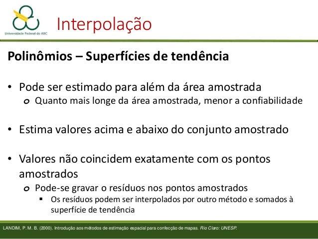 Usar mapa de Kernel ou Interpolação? Base de pontos Vazão extraída por poços Atendimentos por hospital Precipitação Valor ...