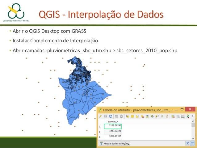 Interpolação de Dados Raster-> Interpolação ◦ Método de interpolação -> TIN ◦ Definir pela extensão atual