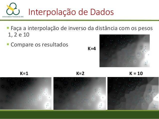 """Prática de Interpolação • """"Points"""" -> """"Pluviométricas_sbc_utm"""" • """"Attribute"""" -> """"Isoietas_P"""" • """"Polynom"""" -> """"Quadratic sur..."""