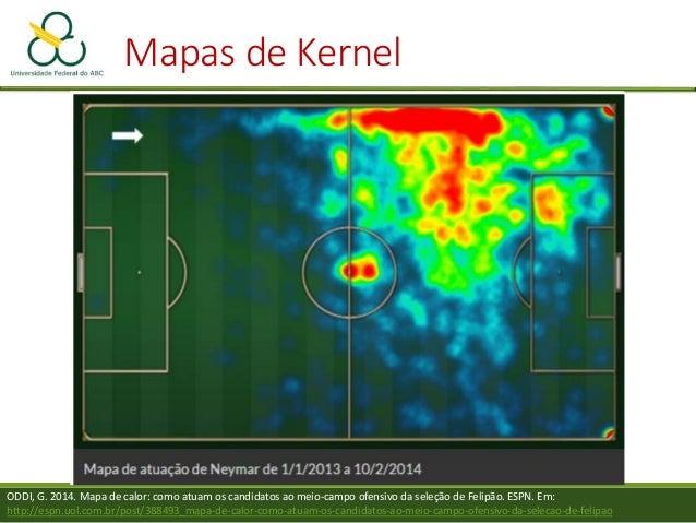 Mapas de Kernel  Quando vale a pena utilizá-los? •Quando a concentração de pontos em uma mapa faz com que sua visualizaçã...