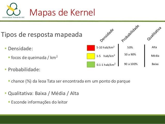 Mapas de Kernel Amberg, B. 2008. A Range of Different Kernels. Em: https://commons.wikimedia.org/wiki/File:Kernels.svg