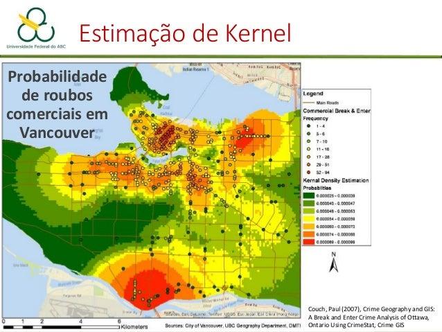 Mapas de Kernel Assaltos a carros em Baltimore em 1996 LEVINE, N. 2013. CrimeStat IV. The National Institute of Justice. W...