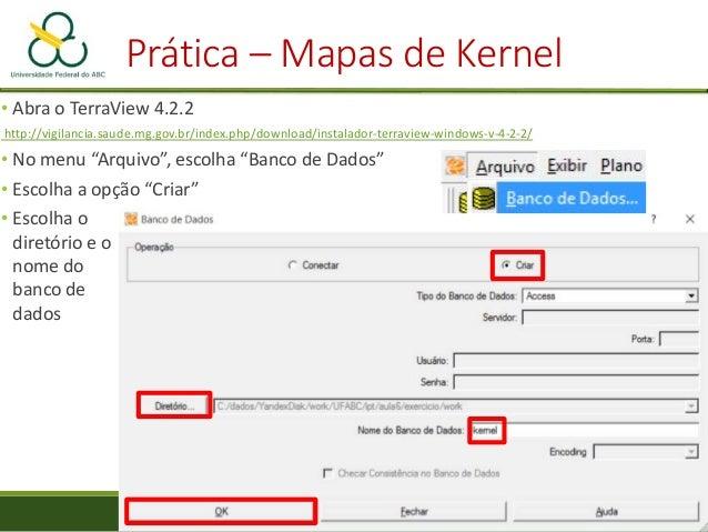 """Prática – Mapas de Kernel • Visualização • No menu """"Análise"""", selecione """"Mapa de Kernel"""""""
