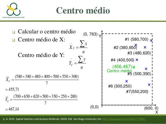(0,0) Centro médio  Calcular o centro médio  Centro médio de X: Centro médio de Y: X #6 (300,250) #7(550,200) #5 (500,35...