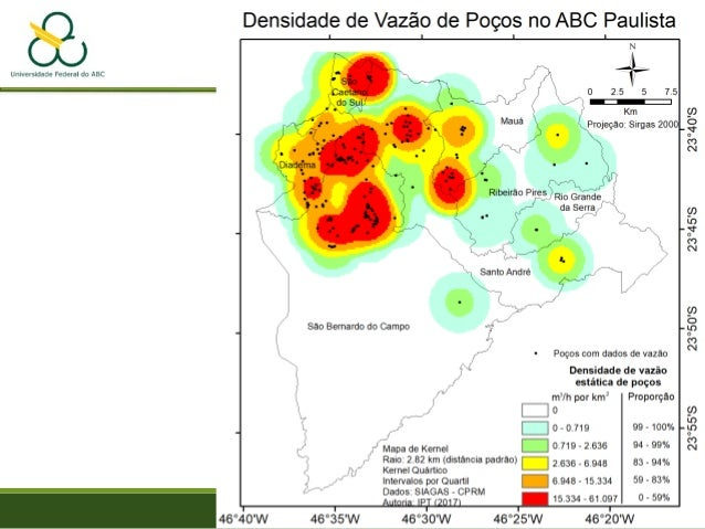 Mapa de Proximidade Distância a serviços urbanos CUPOLO, S. 2010. Law Enforcemet: Washington DC. Module 8. http://seancgeo...