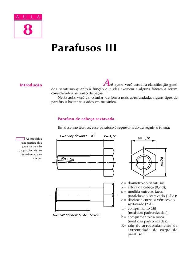 A UA U L A     L A        8   8                    Parafusos III Introdução                                        A     t...